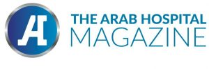 Logotype of the Arab Hospital Magazine, which Covers healthcare news in the Arab world.