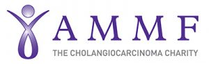 Logotype of the Cholangiocarcinoma Charity, AMMF