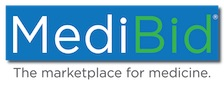 Logotype of Medibid: The Marketplace for Medicine.