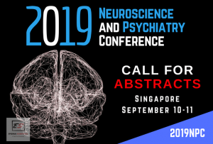 2019 Neuroscience and Psychiatry Conference on 10-11 September 2019 in Singapore. Theme: Melioration in Innovations with advancement in Mental Health and Neurology.