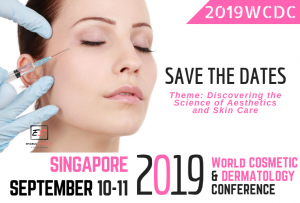 2019 World Cosmetic and Dermatology Conference on 10-11 September 2019 in Singapore. Theme: Discovering the Science of Aesthetics and Skin Care.