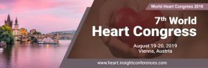 7th World Heart Congress on 19-20 August 2019 in Vienna, Austria. Theme: Life Isn't Measured in Minutes but in Heartbeats .