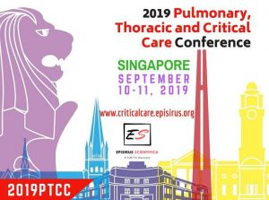 2019 Pulmonary, Thoracic and Critical Care Conference on 10-11 September 2019 in Singapore.
